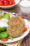 Free Vegetarian Burgers Made From Lentils And Buckwheat, Close-up Stock Photo - 35574290