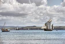 Ship Sails At Sea Royalty Free Stock Image