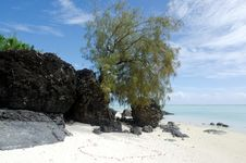 Free Landscape Of  Arutanga Island In Aitutaki Lagoon Cook Islands Royalty Free Stock Photography - 35582477