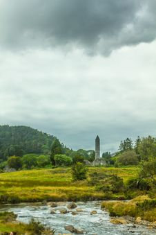 Free Round Tower, Glendalough, County Wicklow, Ireland Royalty Free Stock Photo - 35584455