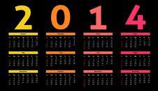 Free 2014 Calendar Stock Image - 35586561