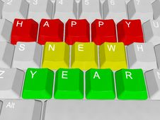 Free Happy New Year Pc Keys Stock Photo - 35588700