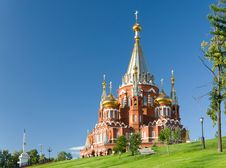 Free Saint Michael S Cathedral In Izhevsk Royalty Free Stock Image - 35589256