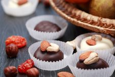Free Chocolate And Fruits Stock Photo - 35589490