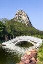 Free Chinese Garden Wiht Arch Bridge Stock Photography - 35594402
