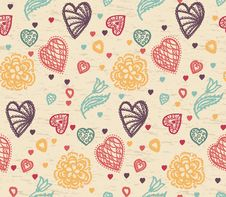 Free Valentine Pattern Stock Image - 35590501