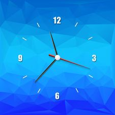 Creative Clock On The Abstract Background Stock Photography