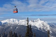 Free Ski Lift Chairs Stock Image - 35593111