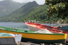 Free Domincan Boats Royalty Free Stock Photo - 35594465