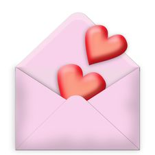 Free Hearts In An Envelope Royalty Free Stock Photos - 3560128