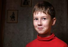 Free Smiling Boy In Dark Room Royalty Free Stock Photo - 3560535