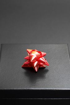 Black Gift Box On Black Stock Photos