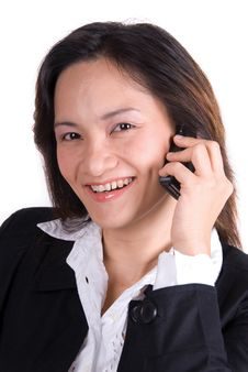 Free Business Girl On The Phone Stock Photos - 3560863