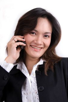 Free Business Girl On The Phone Royalty Free Stock Photography - 3560917