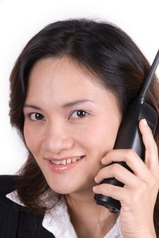 Free Business Girl On The Phone Stock Images - 3560994
