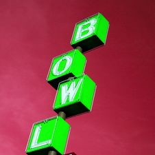 Free Bowling Rink Sign Green Royalty Free Stock Photography - 3561967