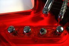 Red Acrylic Guitar Royalty Free Stock Photo