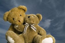 Free Loving Teddy Bears Royalty Free Stock Photography - 3562677