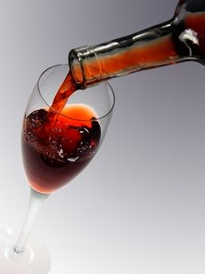 Free Red Wine And The Glass Stock Image - 3563671