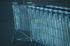 Free Shopping Trolleys, Supermarket Stock Photos - 3563673