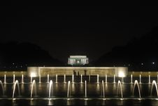 Free The Lincoln Memorial At Night Stock Photo - 3563880