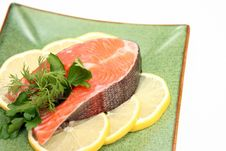 Salmon With Lemon Royalty Free Stock Photography
