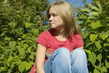 Free Blond Thoughtful Girl Royalty Free Stock Photo - 3566235