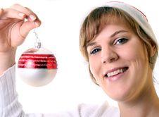 Happy Mrs. Santa Royalty Free Stock Photography
