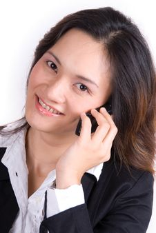 Free Business Girl On The Phone Royalty Free Stock Photos - 3566368