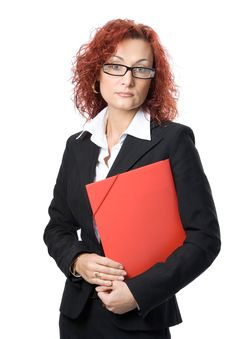 Free Business Woman In Glasses Royalty Free Stock Images - 3566569
