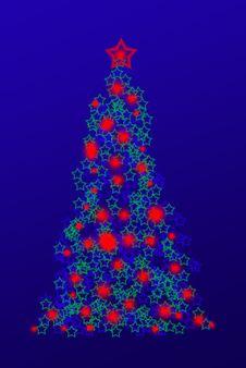 Free Christmas Tree Illustration Royalty Free Stock Photos - 3566698