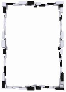 Free Frame Cubic Whites And Blacks Royalty Free Stock Photo - 3566705