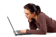 Free Woman Working On Laptop 14 Stock Photography - 3567322