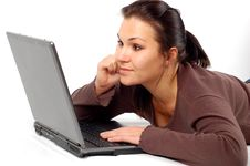 Free Woman Working On Laptop 14 Royalty Free Stock Image - 3567336