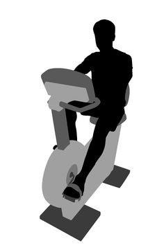 Free Man On Bicycle Mashine Stock Image - 3567511