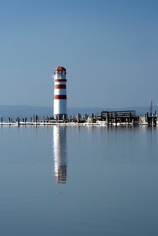 Lighthouse With Reflection 2. Stock Photos