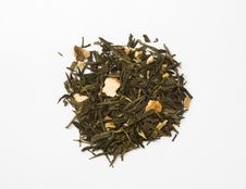Dried Green Tea Leaves Royalty Free Stock Image