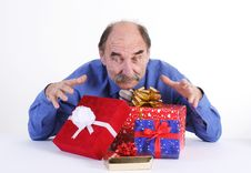 Free Man With Gifts Stock Photos - 3568193