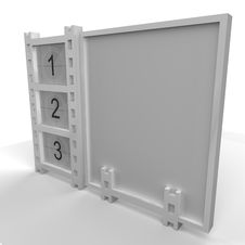 Film Strip Placard Stock Image