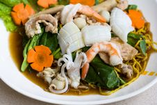 Free Thai Seafood Noodle Royalty Free Stock Photography - 3568757