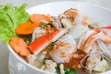 Free Thai Seafood Noodle Stock Image - 3568841