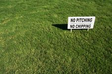 No Pitching, No Chipping Sign Stock Photos
