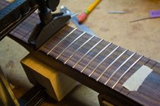 Free Fretting A Guitar Stock Photography - 35601522