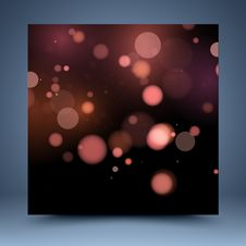 Red Bokeh Abstract Background Royalty Free Stock Photography