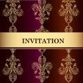 Free Elegant Invitation Card In Royal Style Stock Photos - 35610153