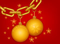 Free Gold Chain Merry Christmas Royalty Free Stock Photo - 35618345