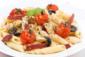 Free Pasta With Sausage, Tomatoes And Olives, Close-up Stock Photo - 35619380