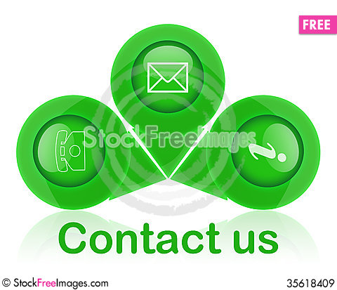 Free Contact Signs Royalty Free Stock Images - 35618409