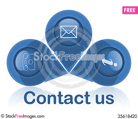 Free Contact Signs Stock Photo - 35618420