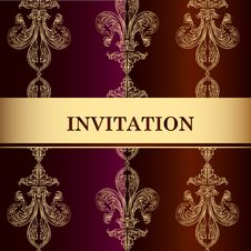 Free Elegant Invitation Card In Royal Style Stock Photos - 35610153